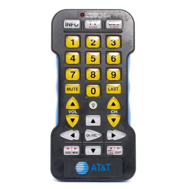 Large print TV remote